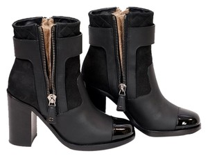 Chanel Black/White Boots