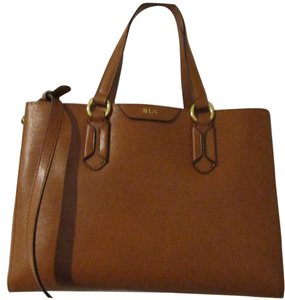 Ralph Lauren Leather Satchel in Tan