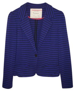 Anthropologie Cartonnier Ponte Striped Peplum Knit Jacket