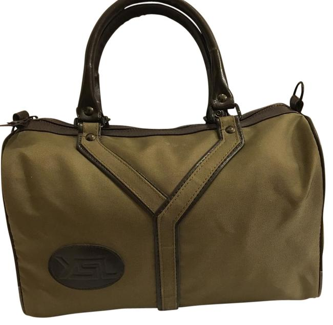 Item - Olive Green and Brown Nylon Baguette