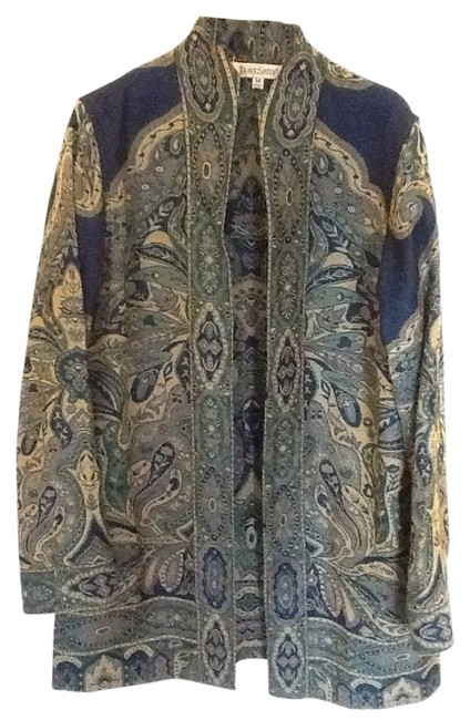 Preload https://item4.tradesy.com/images/travelsmith-blues-and-gold-spring-jacket-size-10-m-2032303-0-0.jpg?width=400&height=650