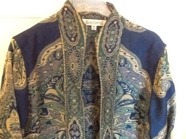 TravelSmith Rayon Blues and gold Jacket