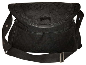Gucci Black on black Monogram Diaper Bag