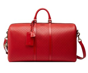 Gucci Bright Diamante Duffle Cary-on Travel Blue Shoulder Bag