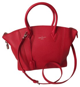 Louis Vuitton Red Taurillion Rubis Lockit Pm Soft Lockit Satchel