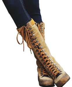 Free People tan/black Boots