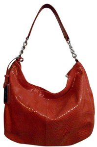 Calvin Klein Leather Snakeskin Hobo Bag