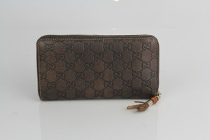 Gucci Gucci Brown Leather Wallet
