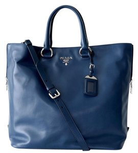 Prada Shopper Leather Tote Shoulder Bag