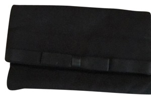 black fold over vintage clutch black Clutch