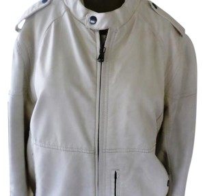 Express Men Leather Coat Beige/ men Leather Jacket