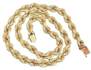 ESTATE PIECE - 32.2g !! Vintage 14kt Gold Rope Chain Necklace 18