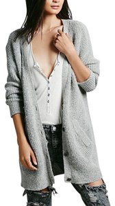 Free People Fuzzy Coat High Low Bohemian Sweater