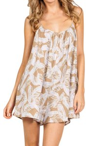 ETERNAL SUNSHINE CREATIONS Printed Birds Tan Pink Bohemian Festival Summer Spring Chic Dress