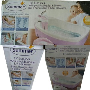 Infant spa and shower Summer infant Lil luxuries whirlpool, Bubbling spa and shower