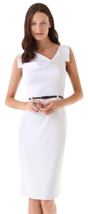 Black Halo short dress White Tory Burch Dvf Victoria Beckham on Tradesy
