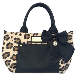 Betsey Johnson Satchel in Tan And Black