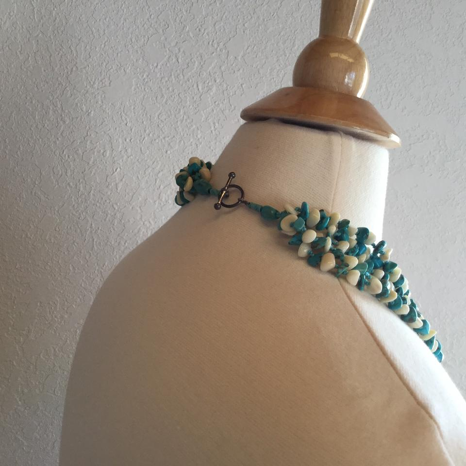 24ed4f070 Nordstrom Turquoise and Ivory Multistrand Necklace - Tradesy