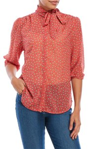 Antilia Femme Print Panda Top Pink Orange