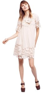 Anthropologie Lace Trim Dress