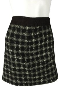 John Varvatos Brown Skirt Houndstooth