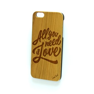 Case Yard NEW Cherry Wood iPhone Case w All You Need Is Love Logo, iPhone 6+/6s+