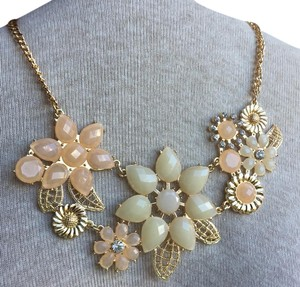 Anthropologie Floral Jeweled Necklace