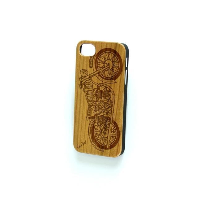 Case Yard Brown New Cherry Wood Iphone with Motorcycle Design Iphone 7+ Tech Accessory Case Yard Brown New Cherry Wood Iphone with Motorcycle Design Iphone 7+ Tech Accessory Image 1