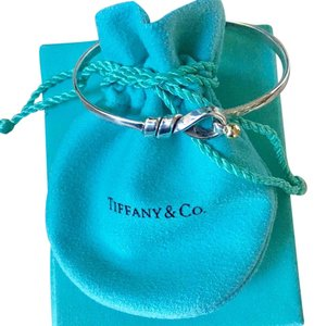 Tiffany & Co. Tiffany & Co. 18 kt Gold Silver Hook & Eye Bracelet