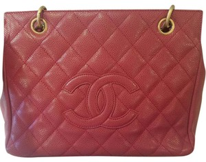 Chanel Timeless Matte Gold Ghw Tote in Red