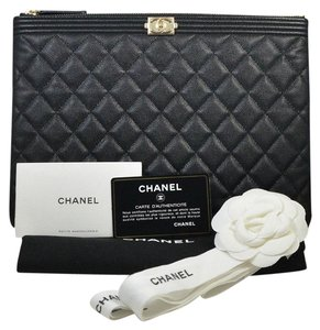 49d8852ecb22 Chanel O Case Medium Quilted Black Clutch