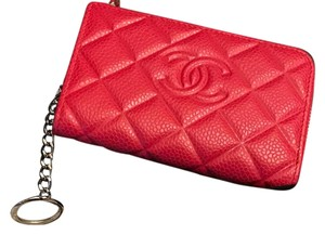 Chanel Authentic Chanel O Card Key Holder , Key Pouch or Small Wallet