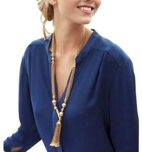 Stella & Dot Bronze Tassel Necklace