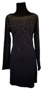Juicy Couture short dress Black Rhinestones Shift Gold on Tradesy