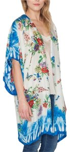 Johnny Was Floral Printed Jwla Brand New Butterfly Kimono Oversized Top Layering Summer Cape