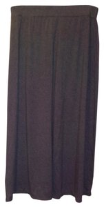 Faded Glory Maxi Black Stretchy Maxi Skirt Gray