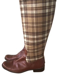 Delman brown plaid Boots