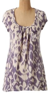 Anthropologie T Shirt purple, white