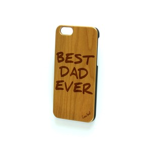 Case Yard NEW Cherry Wood iPhone Case with Best Dad Ever Logo, iPhone 7