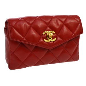 Chanel Chanel Red Belt Bag Fanny Pack