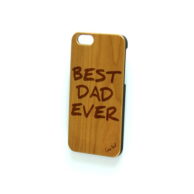Case Yard Brown New Cherry Wood Iphone with Best Dad Ever Logo Iphone 6+/6s+ Tech Accessory Case Yard Brown New Cherry Wood Iphone with Best Dad Ever Logo Iphone 6+/6s+ Tech Accessory Image 1