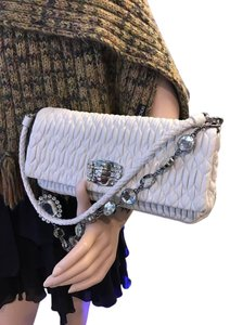 Miu Miu white Clutch