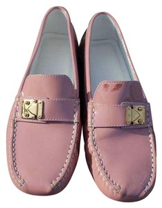 Louis Vuitton Patent Leather Gold Hardware Pink Flats