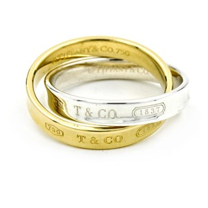 Tiffany & Co. 1837 Interlocking Circles Ring in Sterling Silver and Yellow Gold