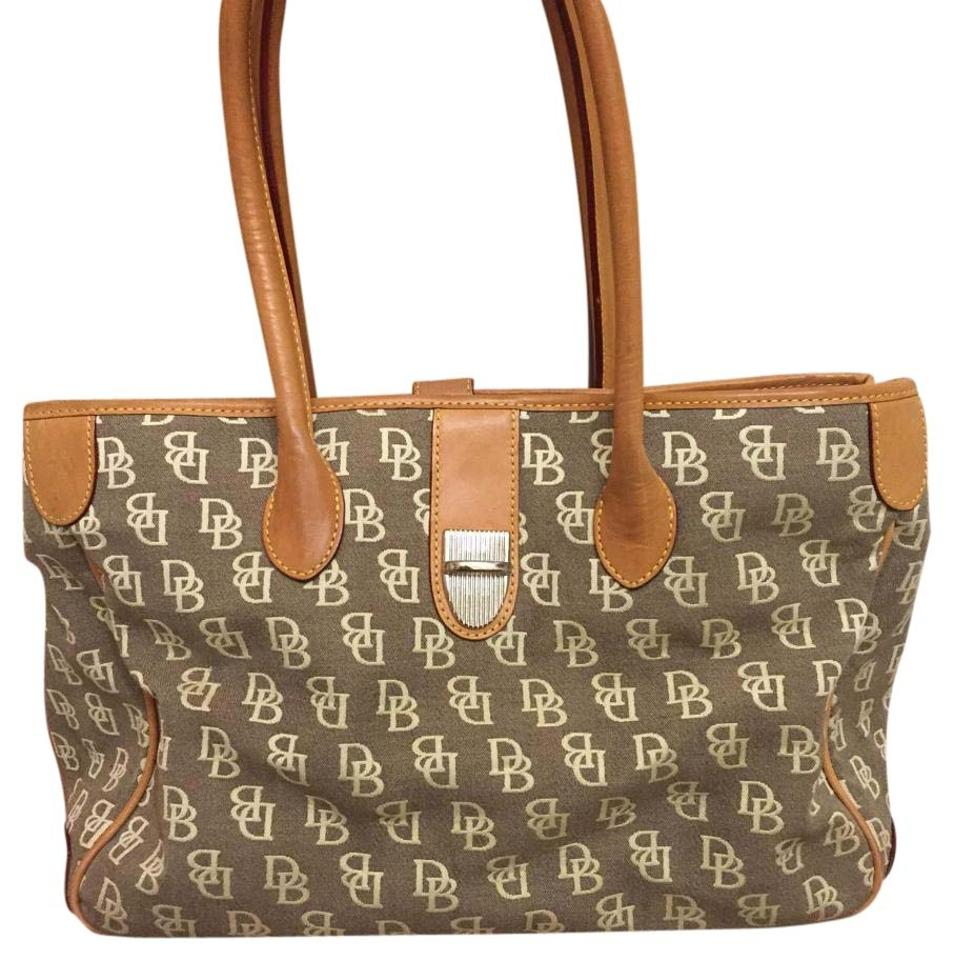 Bourke Beige Leather Cloth Tote