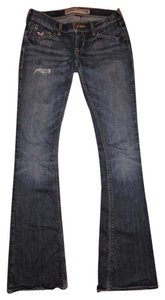 Hollister Stretchy Ripped Flare Leg Jeans-Distressed