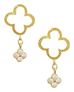 Elliot Francis Clover diamond earrings