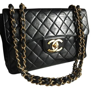 Chanel Vintage Jumbo Flap Shoulder Bag