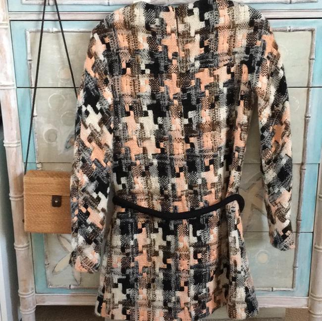 See by Chloé short dress Black, Cream and Peach Preppy Warm Woven Weave on Tradesy