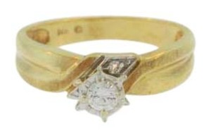 Other Vintage Solitaire Diamond Engagement Ring- 14k Yellow Gold
